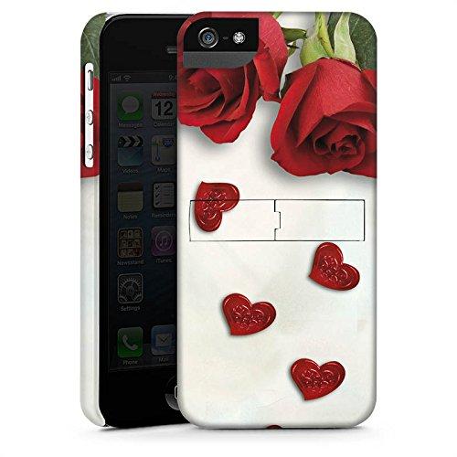 Apple iPhone X Silikon Hülle Case Schutzhülle Rose Roses and Hearts Herz Premium Case StandUp