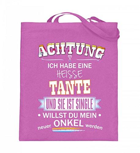Borsa In Juta Di Alta Qualità (con Manici Lunghi) - Achtung-aunt Single Pink