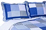 Pegasus Home Fashions Vintage Collection Mulberry Reversible Quilt/Sham Set Full/Queen