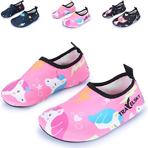 Jiasuqijiasuqi-ct02eu - Sandales Compensées Unisexes Pour Enfants Pink / Unicorn