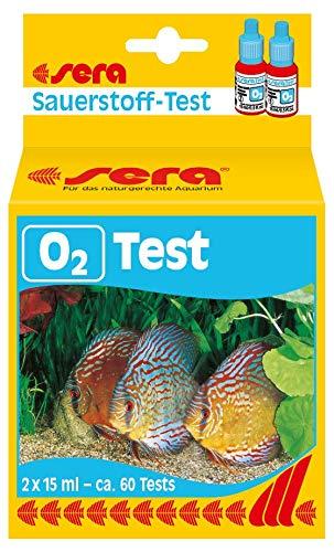 sera 04914 O2-Test 15 ml - Sauerstoff Test für ca. 60 Tests, misst zuverlässig und genau den O2-Gehalt im Süßwasser fürs Aquarium oder den Teich