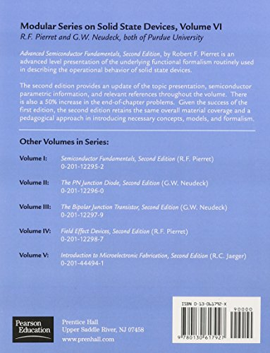 Advanced Semiconductor Fundamentals (Modular Series on Solid State Devices, V. 6)