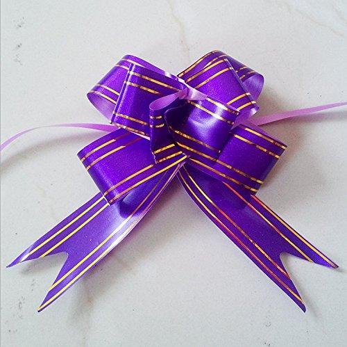 Ma-on Grand Papillon Style ruban Doré Cravate Nœud Cadeau Décoration (Violet)