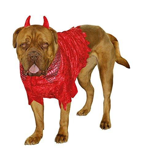 Hunde Kostüm Teufel - Karneval-Klamotten Hund Kostüm Halloween Hundekostüm Teufel für Hunde Karneval Hund-Kostüm Größe S