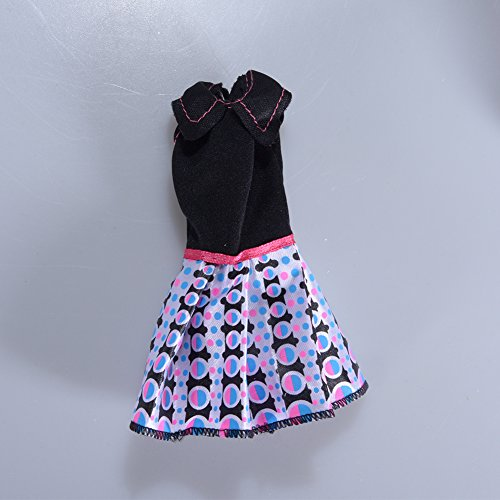 elegantstunning Doll's Fashionable Clothing Set Casual One-Piece Dress for for Doll Style Random 10 Pcs for A Set