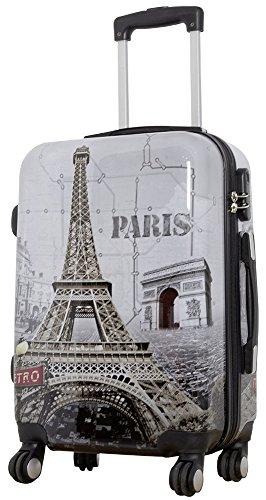 1 Koffer Hartschale Größe S Design Eiffelturm Paris Material Polycarbonat Trendyshop365