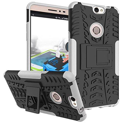 Coolpad Max Hülle, CaseFirst Stoßfest Hybrid Combo Handytasche Anti-kratzer TPU + PC 2 in 1 Handyhülle Anti-Rutsch Schutzhülle Schutz Shockproof Case Cover (Weiß)