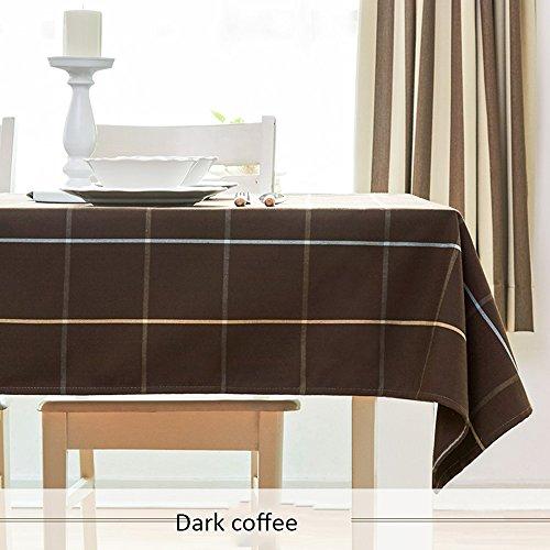 Imperméable nappe Nappe en tissu en treillis rectangulaire Nappe à la maison Tissu de thé frais moderne et simple (3 couleurs en option) (taille facultative) pour dîner ( Couleur : C , taille : 90*145cm )