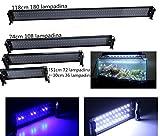 Plafoniera LED Acquario, LED Illuminazione per Pesca Decorativa Plafoniera LED Acquario Dolce Piante in Varie Misure e Può Mettersi nel Aquarium Fish Tank (118cm/46,45pollici)
