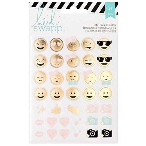 American Crafts Heidi Swapp 10268595Schablone zum Memory Planer Emoticon Aufkleber, Acryl, Mehrfarbig