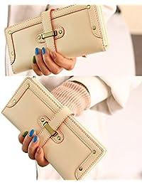 F9Q Femme Coréennes Purse Longtemps Clutch Wallet Lady Luxe Rétro PU Cuir Carte Sac