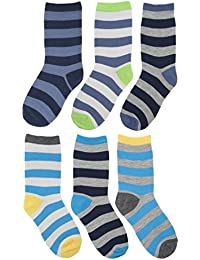 RJM Boys Striped and Animal Design Socks