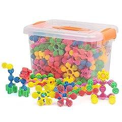 Idea Regalo - EP-Toy Blocchi di Costruzione, Blocchi di Costruzione Morbidi del Sole del Fiore Creativo, Giocattoli di plastica assemblati in plastica per Bambini,90PCS