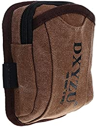 MagiDeal Canvas Motorcycle Multi-purpose Outdoor Hike Camp Waist Bag Fanny Mini Pack - Brown