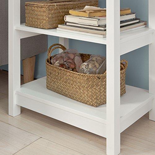 SoBuy® FBT46-W Beistelltisch Nachttisch Couchtisch in weiß mit einer Schublade und 2 Ablagen BHT ca: 45x68x30cm - 5