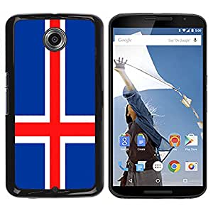- Flag - - Snap-On Rugged Hard Abdeckungs-Fall FOR Google Nexus 6 & Motorola Nexus 6 Funny House