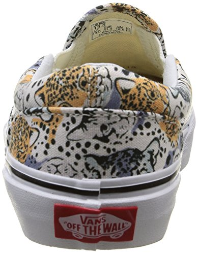 Vans Kids Classic Slip-on Wild Cat, Sneakers Basses Mixte Enfant Multicolore (Wild Cat/True White)