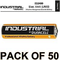 Duracell 50 X AAA batteria alcalina Industrial, confezione da 5 (5x10)