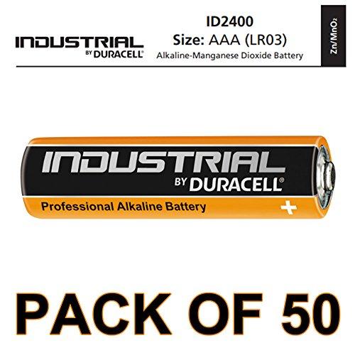 Duracell 50x AAA Industrie Alkaline-Batterie-Orange