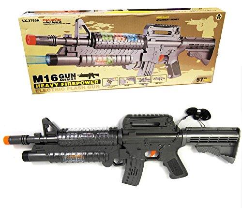 Gewehr Kinder Spielzeug 57 cm mit Licht und Soundeffekte Waffe Maschinengewehr