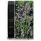 Huawei Ascend P6 Hülle Silikon Case Schutz Cover Lavendel Blumen Natur
