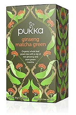 Pukka Thé Vert Bio Matcha Ginseng 20 Sachets 40 g - Lot de 2