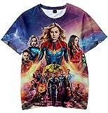 Hombre Avengers Endgame Camiseta 3D Impreso Coloreado Superhéroes Men's Fashion T-Shirt (S)