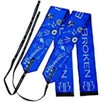 Muñequeras BLUE DRAW BANBROKEN (1 PAR) Estabilidad en muñecas para Fitness, Gimnasio, Crossfit, Calistenia, Halterofilia, Pesas - Hombre, Mujer -Talla Única (2unds)