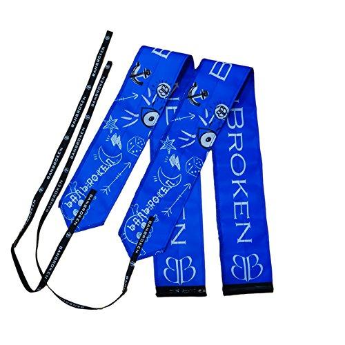 Armbänder BLUE DRAW BB Banbroken Stabilität für die Handgelenke für Fitness, Gymnastik, Crossfit, Gewichtheben, Frauen und Männer - Einheitsgröße ( 2 Einheiten ) BLAU -