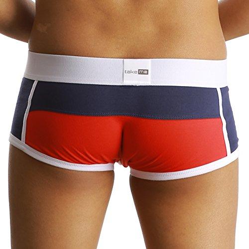 take me | Boxer Shorts | Retro Short |trendig viele Styles | weich und hautfreundlich | Halt und formgebend für den Penis | Klimafunktion | Die Wäschemarke für Ihn und sein Bestes Stück. rot C0841