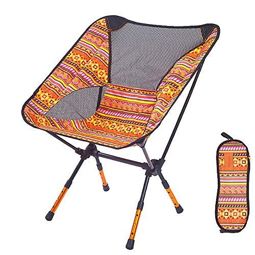LIPAI Klappstuhl Outdoor Klappstuhl Tragbare Lagerung Aluminium Strandstuhl Skizze Stuhl RüCkenlehne Verstellbares Bein Orange 57 * 43 * 71 cm (Aluminium Lagerung Rohr)