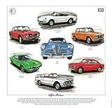Classic Alfa Romeo Print --- Giulia, Giulietta, Montreal, Sprint GT, Spider, 2600 & 1900. Ready to frame.