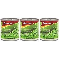 Gourmet - Guisantes al natural - Finos -  pack con 3 unidades de 200 g