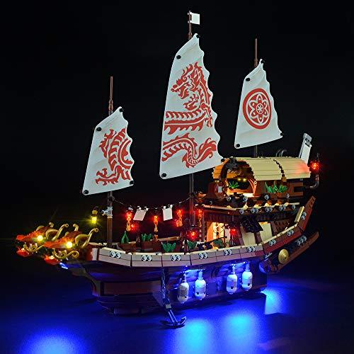 LIGHTAILING Conjunto de Luces (Ninjago Barco De Asalto Ninja) Modelo de Construcción de Bloques - Kit de luz LED Compatible con Lego 70618 (NO Incluido en el Modelo)