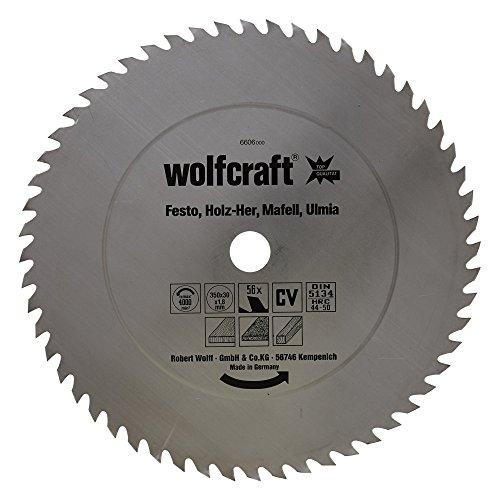 Wolfcraft 6606000 CV-Kreissägeblatt, 56 Zähne Ø 350 x 30 x 1,8