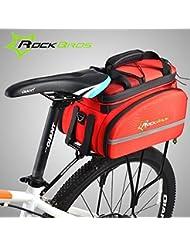 Bazaar Rockbros allant à vélo le sac de tronc d'arrière de sac de bicyclette de sac d'égouttoir portent le sac à dos de vélo tout terrain de sac