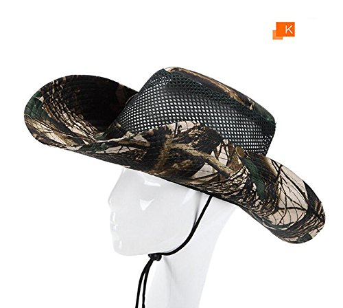 a1fa7499352d7 WeiMay Men s Sun Hat Army Military Jungle Boonie Camouflage Hat Wide Brim Bucket  Hat Camping Fishing