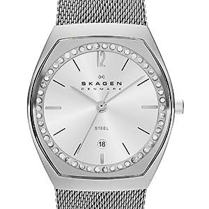 Skagen skw2049 - Reloj de cuarzo para mujer, correa de acero inoxidable color plateado de Skagen