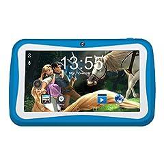 Idea Regalo - Kivors - Tablet da 7'' Android Quad Core a 1,2 GHz per bambini, RAM da 1GB e ROM da 8GB, blau