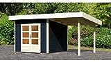 KONIFERA Set: Gartenhaus Rosenheim 1, BxT: 459x259 cm, opalgrau, inkl. Anbau opalgrau