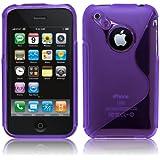 Lila TPU Silikon Case für Apple iPhone 3 / 3G / 3GS