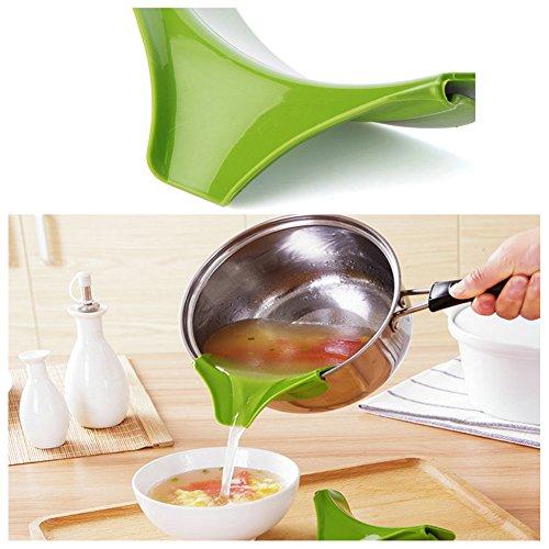 SMCTCRED silicone Slip-On Beccuccio versare il liquido minestra d'olio dalle ciotole Pentole Pots - Verde
