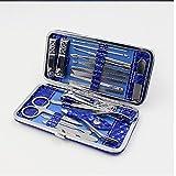 Zhongke 18 in 1 set di tagliaunghie 18 pezzi Kit per la pulizia in acciaio inossidabile Include tagliaunghie e strumenti per pedicure con custodia da viaggio in pelle e scatola regalo