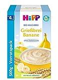 HiPP Bio-Milchbreie - Vorratspackung, Grießbrei Banane, 1er Pack (1 x 500 g)