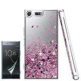 Atump Coque Sony Xperia XZ Premium Liquide Glitter Brillant Silicone TPU Antichoc...