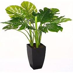Planta artificial verde – 77 cm – con macetero