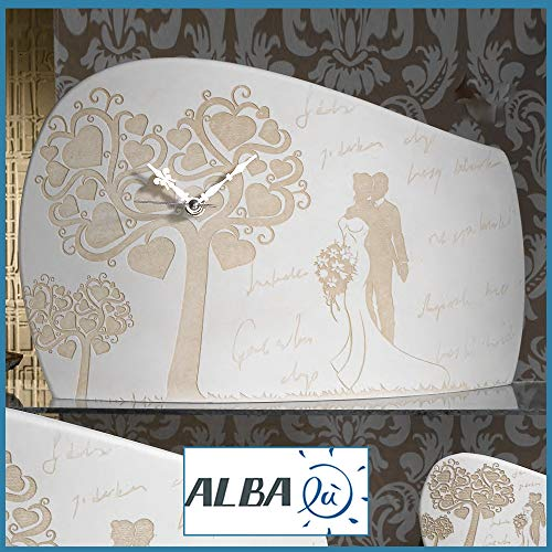 Bomboniere orologio matrimonio sposi coppia albero della vita cuori curvo