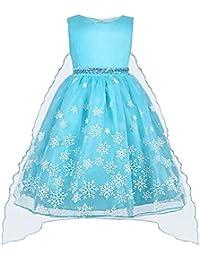 211358a897c7e5 Vicloon Prinzessin Kostüm, ELSA Kleid Mädchen Prinzessin Kleid Kinder  Weihnachten Verkleidung…