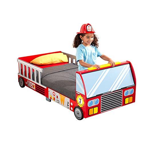 Imagen principal de KidKraft 76031 Cama infantil en forma de camión de bomberos niño de madera