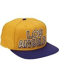 adidas Flat Los Angelos - Gorra para hombre, color amarillo, talla Talla única